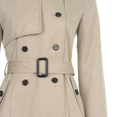 slim line trench coat beige